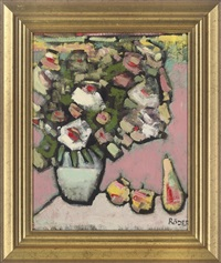white and pink flowers in a vase by andré röder