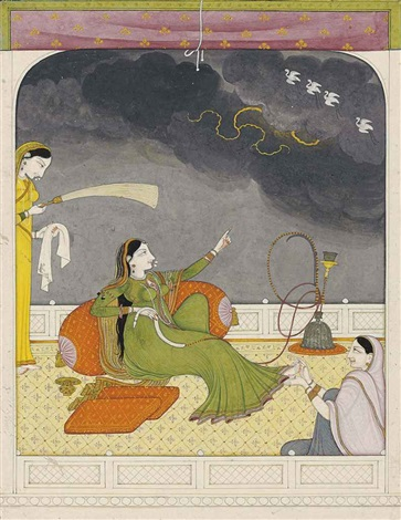 a noblewoman reminisces about her lover from rasikapriya series by anonymous indian 19