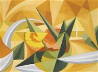 linee forza di paesaggio (landscape force lines) by giacomo balla