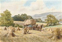 a scene from the harvest by margaret winifred tarrant