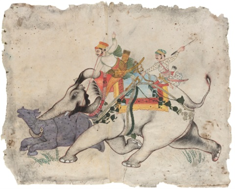 rao ram singh i pursuing a rhinoceros by anonymous indian 18