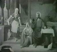 kristus hos martha og maria. lucas 10. kap. vers 39-42 by detlev konrad blunck