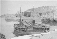 dunure harbour by robert eadie