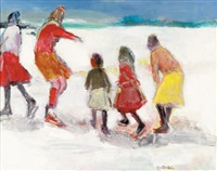 children skating by ellen grim harter
