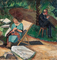 couple in a garden by anders gudmundsen-holmgreen