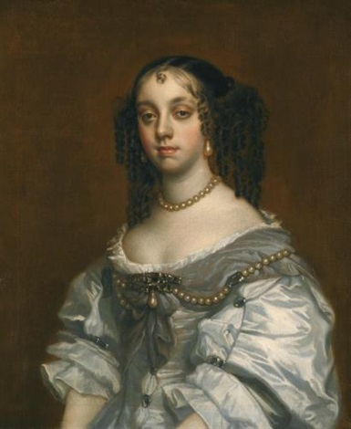 portrait of queen catherine of braganza 1638 1705 by sir peter lely