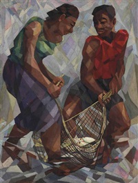 untitled (fishermen) by alipio jaramillo