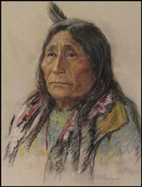 daughter of chief crowfoot, stoney tribe by nicholas de grandmaison