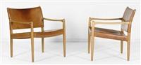 paire de fauteuils modèle premiar 69 by per-olof scotte