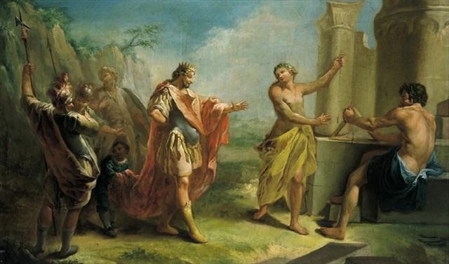most popular on wholesale really comfortable König Salomon beim Bau seines herrlichen Tempels in ...
