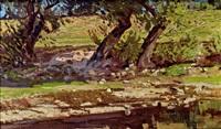 landschaft mit bäumen by ferdinand andri