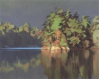 calm morning - decourcy island by clayton anderson