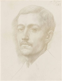portrait of a young man by alphonse legros
