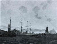 schiffe vor venedig by gustav adolf van hees