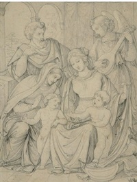 heilige familie mit elisabeth und dem johannesknaben by hermann anschutz