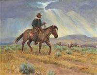 cowboy in a storm by joe neil beeler