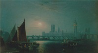 a moonlight view of the thames, wetminster by ansdele smythe