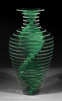 vase #13, from plate glass series by sidney hutter