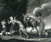 peasants at a wayside shrine by johann liss
