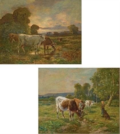 vaches dans un pré 2 works by adrien gabriel voisard margerie