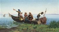 traghetto sul lago by pietro barucci