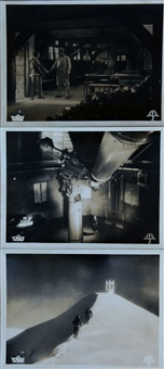 drei kino aushangphotos für den film stürme über dem montblanc (3) by leni riefenstahl