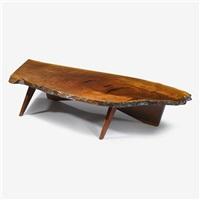 early slab coffee table, 1955 by george nakashima