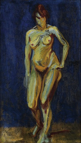 fauve nude by alfred henry maurer