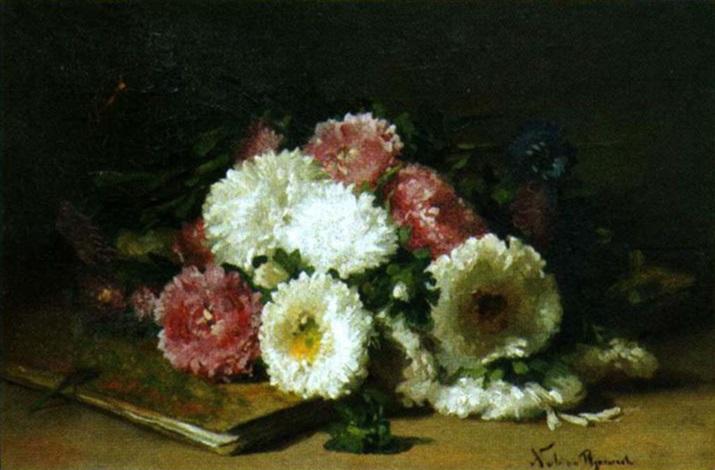 nature morte au livre et aux fleurs by claire julienne noble pijeaud