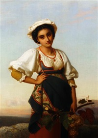 the neapolitan harvest girl by rudolf w. a. lehmann