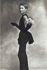 women with roses on her arm (lisa fonssagrives-penn), paris by irving penn