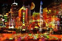 shangaï at night by yves bady
