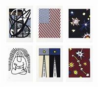 la nouvelle chute de l'amérique (set of 10) by roy lichtenstein