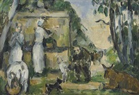 la fontaine by paul cézanne