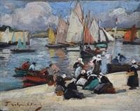 bretonnes devant la ville close by fernand marie eugène legout-gérard