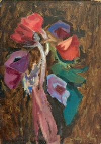 bouquet de fleurs by leopold-levy