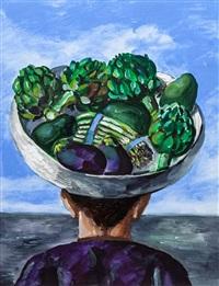 man with greens by natalia nesterova