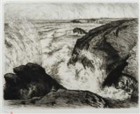 grandes marées rochers de sion (vendée) by auguste louis lepère
