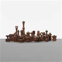 collection of twenty-seven peppermills by jens quistgaard