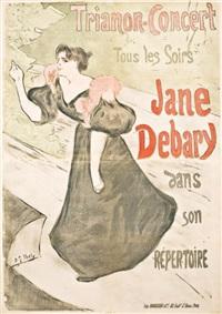 trianon concert. tous les soirs jane debray dans son répertoire by henri gabriel ibels