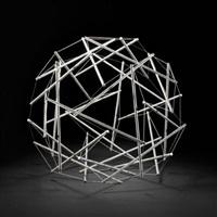 30-strut tensegrity geodesic dome by buckminster fuller