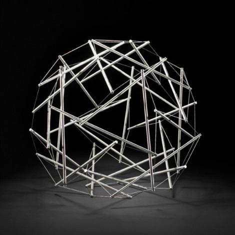30 strut tensegrity geodesic dome by buckminster fuller