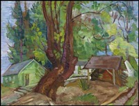 the large maple that used to be in front of the cottage by irene hoffar reid