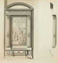 projet pour l'autel néoclassique d'une chapelle royale by ange-jacques gabriel