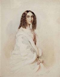 portrait einer jungen dame by eleonore (lory) auegg-dilg