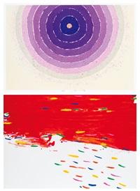 a.再生之始 - 4 b.紅雲 (l'inizio della rinascita - 4, nuvola rossa) (2 works) by hsiao chin