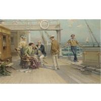smoking on deck by p. lermonte