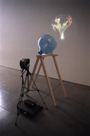 blue transmission by tony oursler