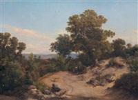 paesaggio con figure by c. marko