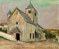 eglise de leynes (saone-et-loire) by maurice utrillo